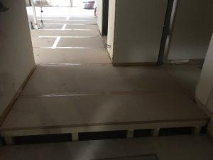 マンション 置床工事 フリーフロアCP(東京都世田谷区上北沢)