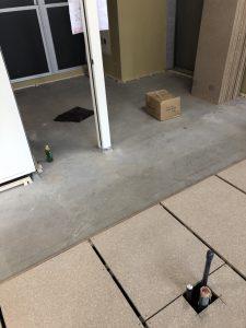 オフィスビル 置床工事 フリーフロアCP(東京都中央区銀座)