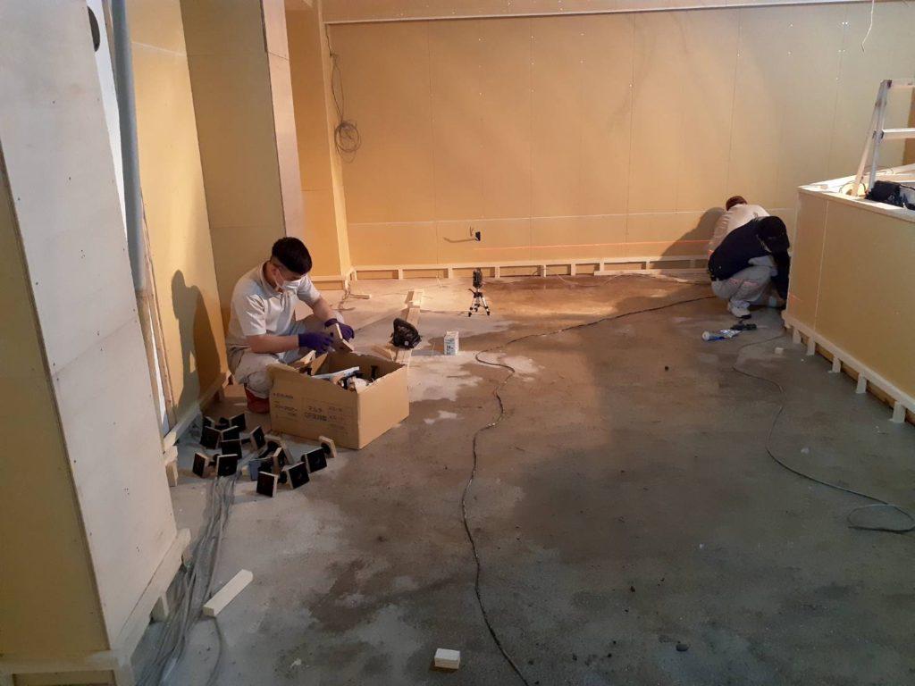 新築戸建 置床工事(神奈川県横須賀市)