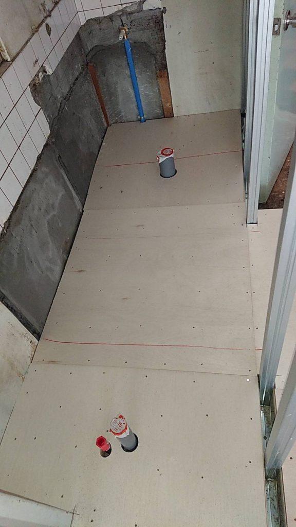 ビル 置床工事 乾式二重床(東京都港区)