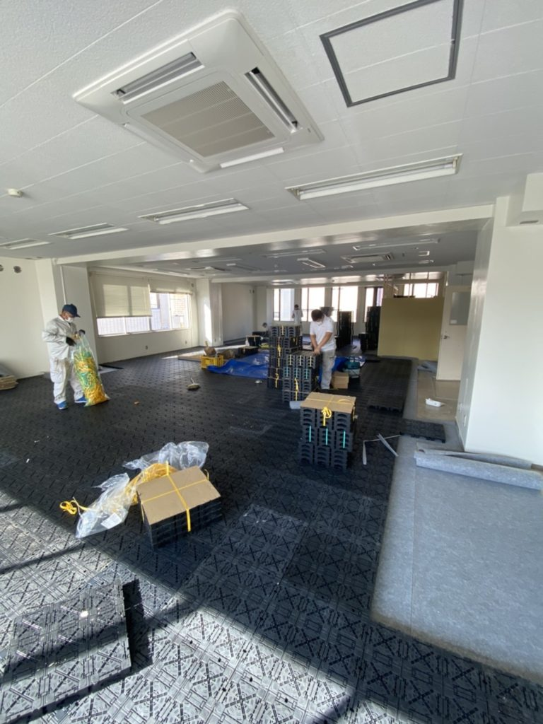 ビル OAフロア工事 TN50(神奈川県平塚市)