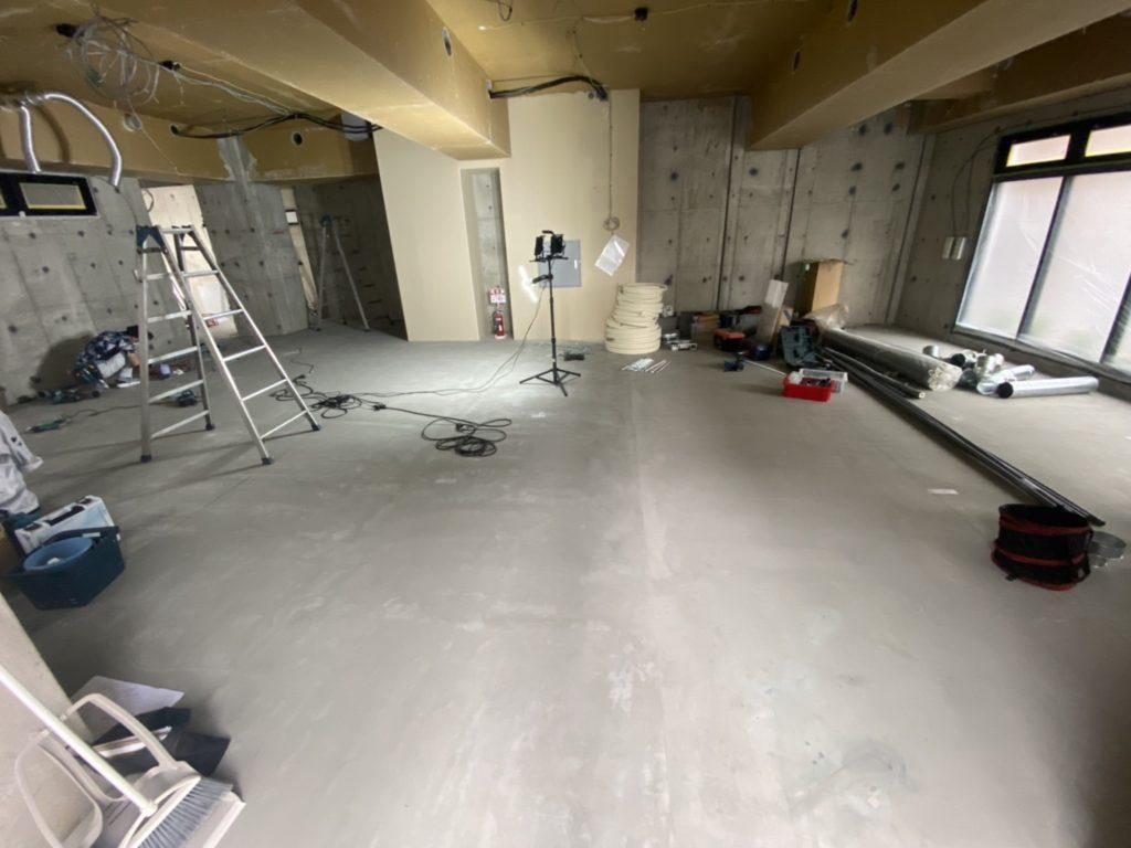 トレーニングスタジオ 置床工事 フリーフロアCP(東京都豊島区巣鴨)