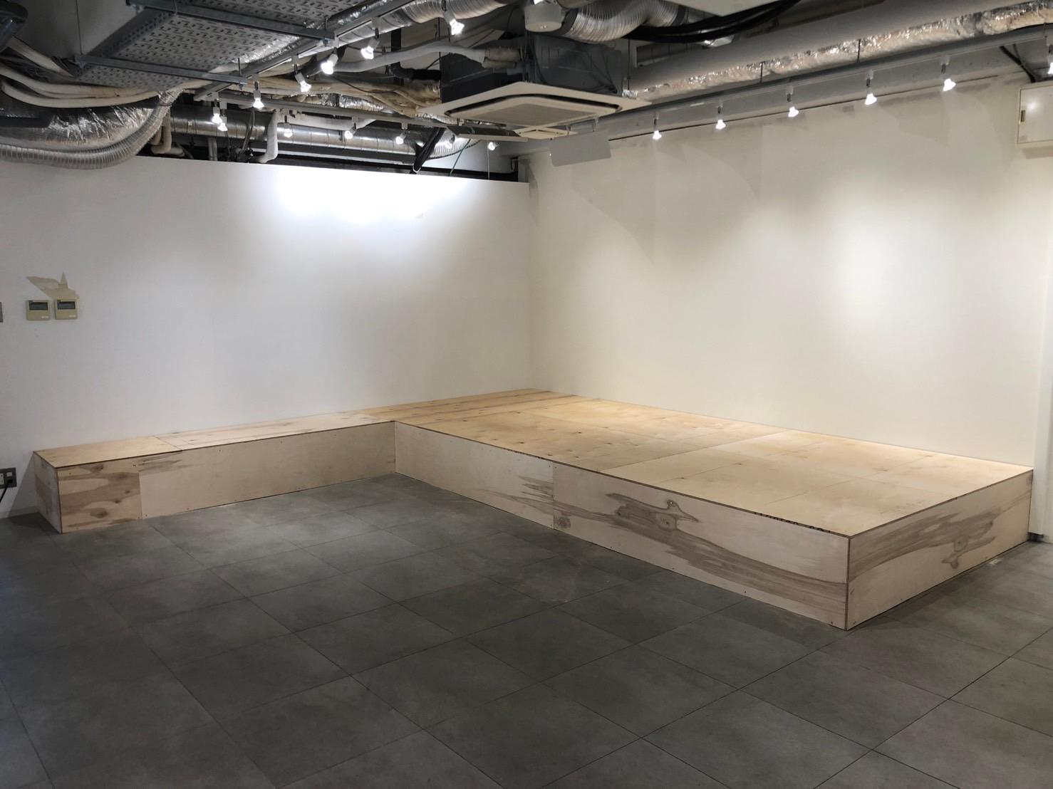 ビル 置床工事 乾式二重床(東京都渋谷区)